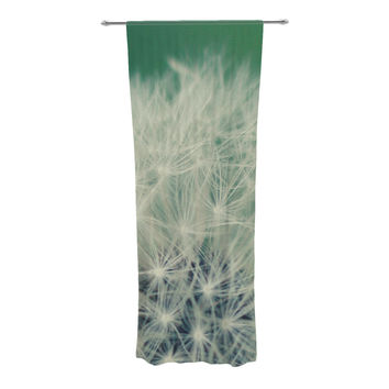 "Angie Turner ""Fuzzy Wishes"" Green White Decorative Sheer Curtain"