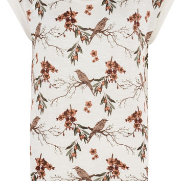 Bellfield Staveley Round Neck Bird Print T-Shirt