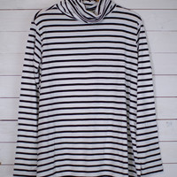 Lulu Stripe Turtle Neck Top