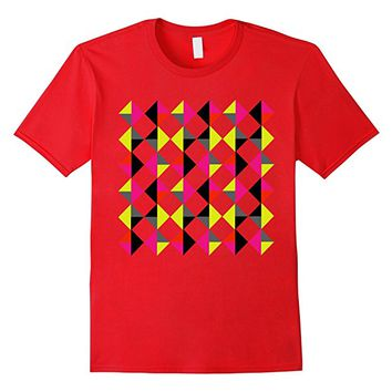 Colorful Modern Trendy Geometric Diamond Graphic T-Shirt