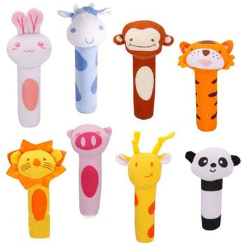 Baby Mobile Toys Cartoon Animal Hand Bells Plush Baby Toy Dolls Toys for Children Newborns Animal Shaped Cartoon Rattle Mobile