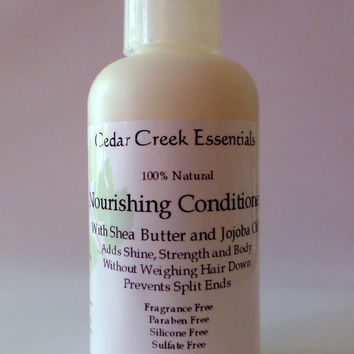All Natural Conditioner -  Nourishing Hair Conditioner with Shea Butter and Jojoba Oil. Cedar Creek Essentials