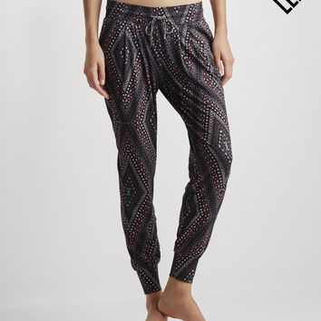 LLD Diamond Print Jogger Pants