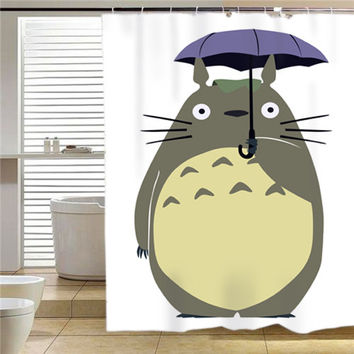 studio ghibli umberella  shower curtain