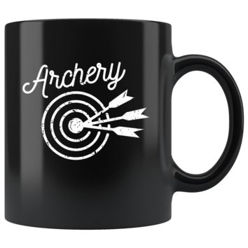 Archery Arrows Superpower Black 11oz Mug