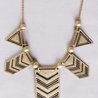 Chevron Insignia Necklace in Accessories at Frock Candy