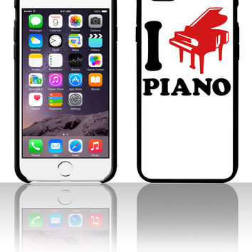 I Love Piano Logo Design 5 5s 6 6plus phone cases