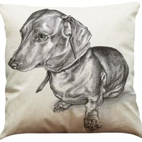 Artistic Dachshund Cushion Cover