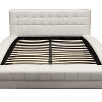California King Bonded Leather Tufted Bed