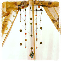 Bohemian Decor Gypsy Hanging Beads Mobile by LiLaxO on Etsy