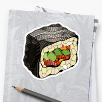 'Sushi illustration' Sticker by LidiaP