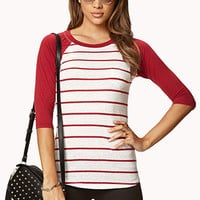 Striped Baseball Tee | FOREVER 21 - 2062579162