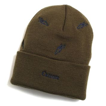 All Over Carrot Beanie Olive