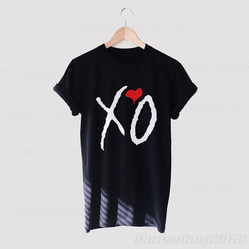 XO The Weeknd Black White Unisex T Shirt