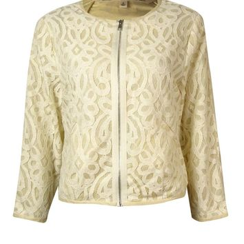 Rachel Roy Women's Carlie Lace Cropped Jacket