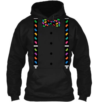 Jelly Beans Black Bow Tie & Suspenders Easter T-Shirt Pullover Hoodie 8 oz