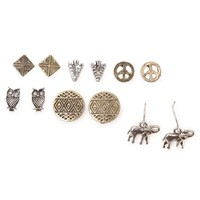 With Love From CA Boho 6 Pack Earring Set - Womens Jewelry - Multi - One