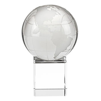 Badash H146 Earth Globe On Engravable Stand   H4.5""