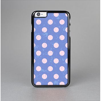 The Vintage Scratched Pink & Purple Polka Dots Skin-Sert Case for the Apple iPhone 6