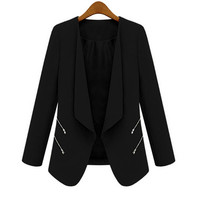 Women's Blazer With Side Zippers