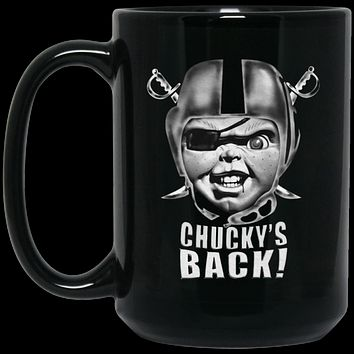 Chucky's Back BM15OZ 15 oz. Black Mug