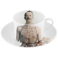 The New English Anatomica Coffee Cup and Saucer - Style # ANA-COF, Anatomica Dinnerware from The New English at SWITCHmodern.com
