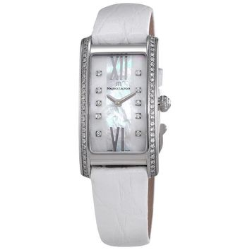 Maurice Lacroix Fiaba Mother of Pearl Dial White Leather Ladies Watch