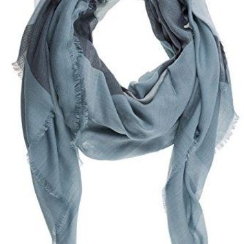 Burberry men's wool scarf blu