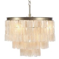 Capiz Chandelier | Quinn Collection Dining Room Inspiration | Dining Room Inspiration | Inspiration | Z Gallerie