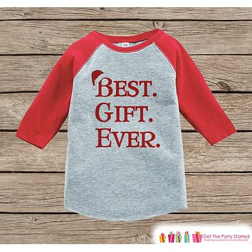 Kids Christmas Outfit - Best Gift Ever Christmas Shirt or Onepiece - Holiday Outfit - Boy Girl - Kids, Baby, Toddler and Youth