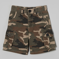 Brown Camo Cargo Shorts - Boys | something special every day