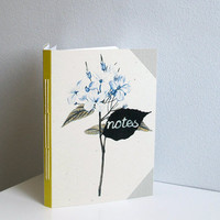 Blue flowers notebook - A6