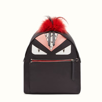 FENDI | BACKPACK in nylon and leather with Bag Bugs eyes