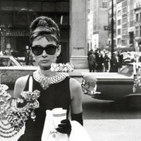 Audrey Hepburn-Breakfast at Tiffany's-Window Shopping in Black and White, Movie Poster Print, 24 by 36-Inch