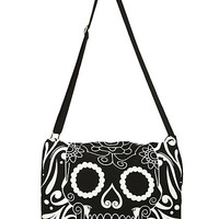 Sugar Skull Mini Messenger Bag | Hot Topic
