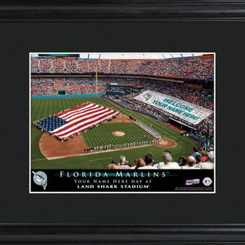 Personalized MLB Stadium Print - Marlins
