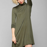 Sparkle & Fade Knit Turtleneck Swing Dress - Urban Outfitters