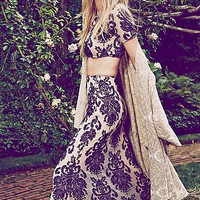 For Love & Lemons Womens Ethereal Maxi Set - Black / Nude