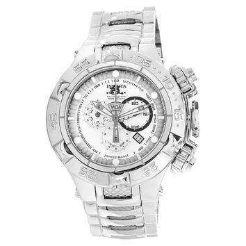 Invicta 15925 Men's Subaqua Noma V Quartz Chronograph Silver Dial Stainless Steel Dive Watch