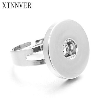 Hot sale DIY Adjustable Snap Button Rings For Snap Buttons Fit 18mm Metal Snap Buttons Women's Fashion Jewelry Men's Ring