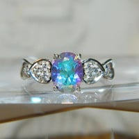 Mercury Mist Topaz Ring