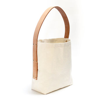 Madison Canvas Market Tote (Natural)