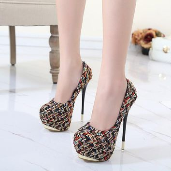 Fetish Extreme High Heels Splice Patch Shoes