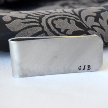 Groomsmen Personalized Money Clip Gift- Hand-Stamped Money Clip