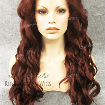 """24"""" Synthetic Lace Front with Wave Texture in Red"""