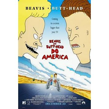 Beavis And Butthead Movie poster Metal Sign Wall Art 8in x 12in