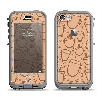 The Vintage Vector Coffee Mugs Apple iPhone 5c LifeProof Nuud Case Skin Set