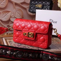 DIOR WOMEN'S NEW STYLE LEATHER INCLINED SHOULDER BAG
