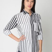 rsarch400pw - Unisex Printed Rayon Long Sleeve Button-Up