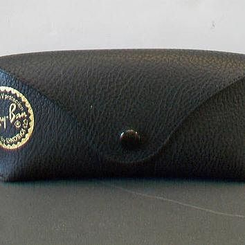 Ray Ban Sunglasses Case Black Pebbled Sun Glass Pouch Unisex Eyeglass Accessories